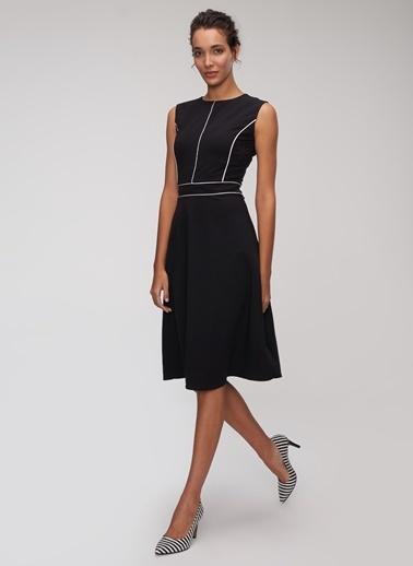 People By Fabrika Biyeli Elbise Siyah